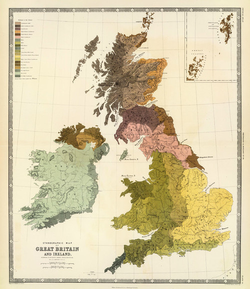 Art Prints of Great Britain and Ireland, 1856 (0372034) by Kombst and Johnston