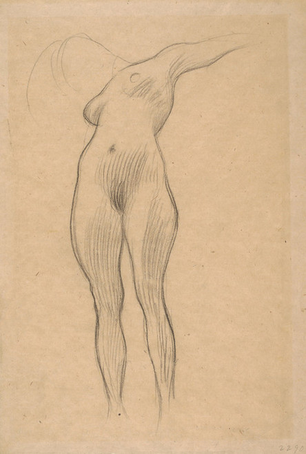 Art Prints of Floating Woman, Study for Medicine by Gustav Klimt