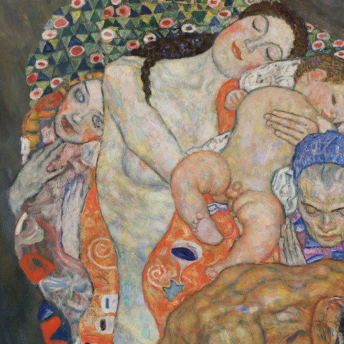 Art Prints of Death and Life Detail by Gustav Klimt