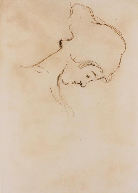 Art Prints of Girl with Bowed Head by Gustav Klimt