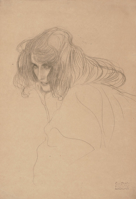 Art Prints of Woman in Profile Study for the Beethoven Frieze by Gustav Klimt