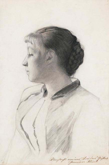 Art Prints of Girl in Profile by Gustav Klimt