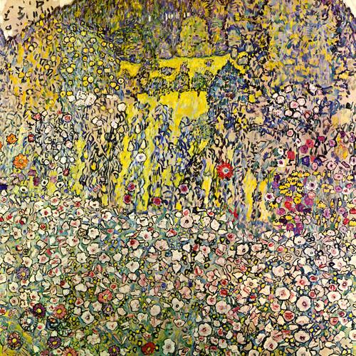 Art Prints of Garden Landscape with Hilltop, 1917 by Gustav Klimt