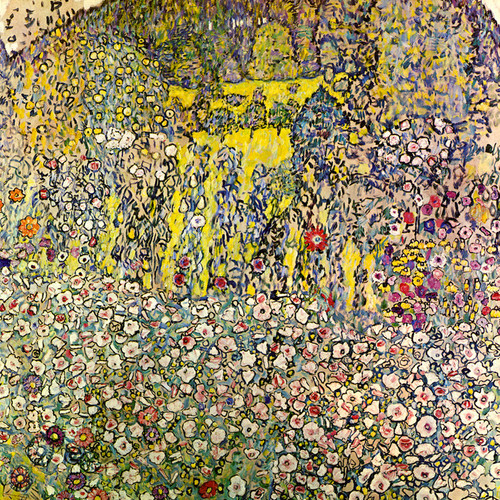 Art Prints of Garden Landscape with Hilltop, 1917 by Gustav Klimt