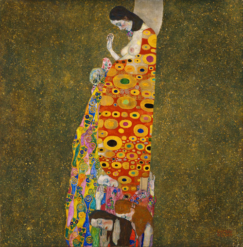 Art Prints of Hope II by Gustav Klimt