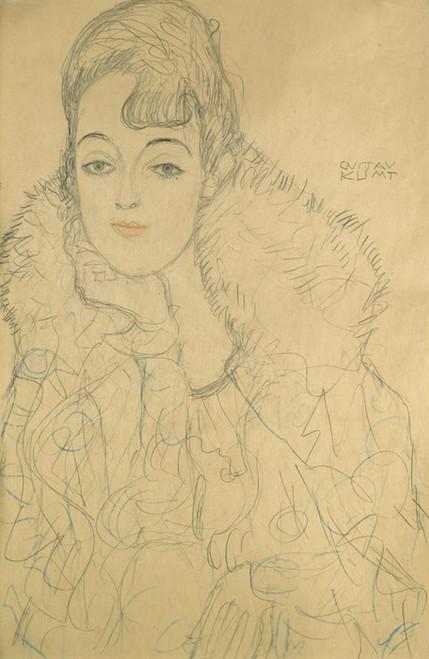 Art Prints of Portrait of a Lady Frontal View by Gustav Klimt