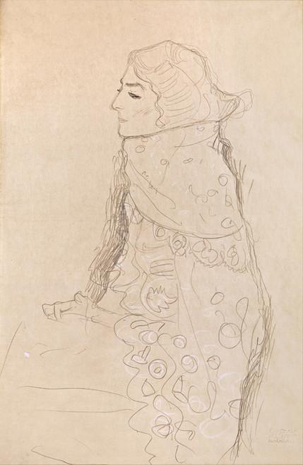 Art Prints of Seated Woman by Gustav Klimt