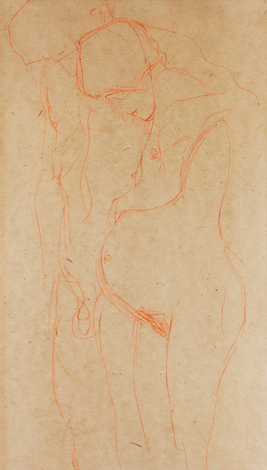 Art Prints of Pregnant Woman with Man by Gustav Klimt