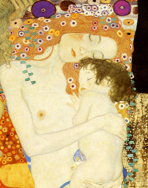 Art Prints of The Three Ages of Woman 1905, detail by Gustav Klimt