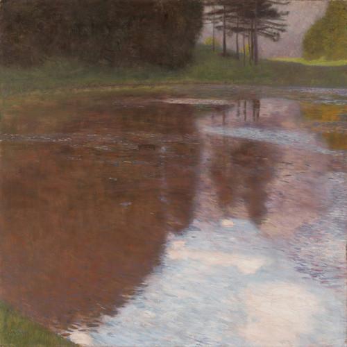 Art Prints of Tranquil Pond Egelsee Near Golling Salzburg by Gustav Klimt