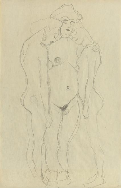 Art Prints of Three Standing Female Nudes by Gustav Klimt
