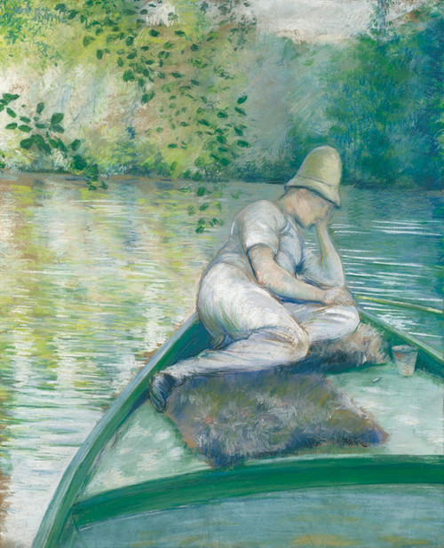 Art Prints of Boater on the Yerres River by Gustave Caillebotte