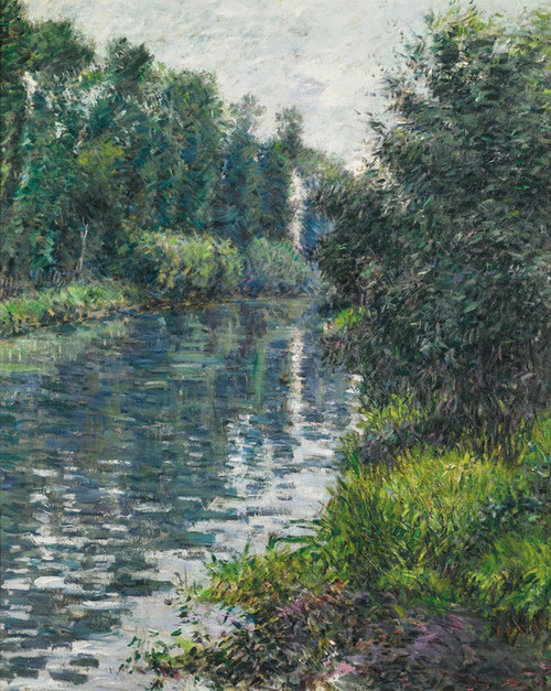 Art Prints of The Small Arm of the Seine, Argenteuil by Gustave Caillebotte