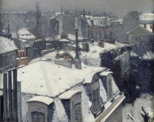 Art Prints of Rooftops in the Snow by Gustave Caillebotte