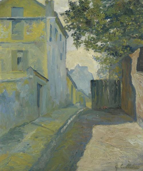 Art Prints of Rue du Mont Cenis Montmarte by Gustave Caillebotte