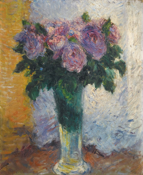 Art Prints of A Vase of Roses by Gustave Caillebotte