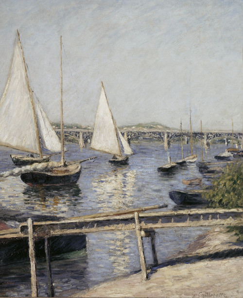 Art Prints of Sailing Boats at Argenteuil by Gustave Caillebotte
