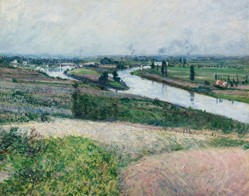 Art Prints of The Seine at the Forefront of Epinay by Gustave Caillebotte