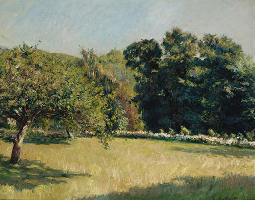 Art Prints of A Garden in Touville by Gustave Caillebotte