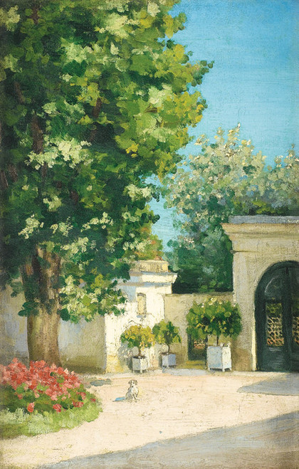 Art Prints of Yerres, the Porch of the Family Home by Gustave Caillebotte