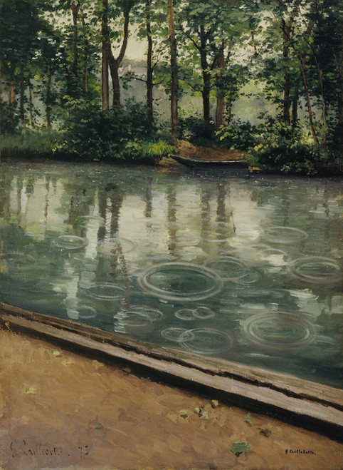 Art Prints of The Yerres Rain by Gustave Caillebotte