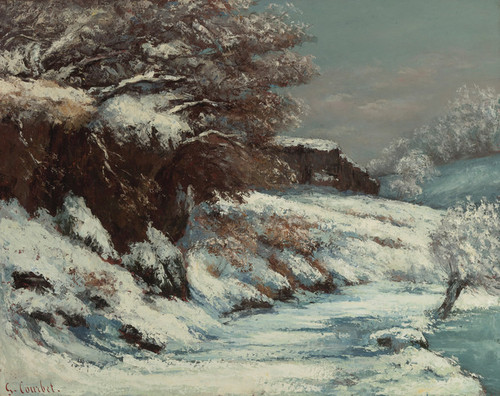 Art Prints of Effet de Neige or Snow Effect by Gustave Courbet