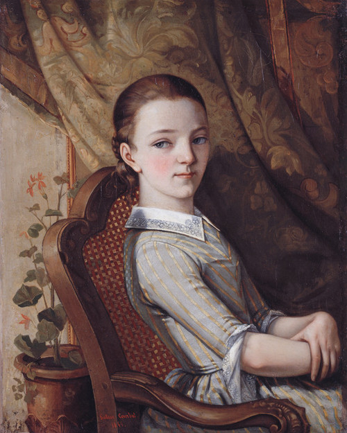 Art Prints of Portrait of Juliette Courbet by Gustave Courbet