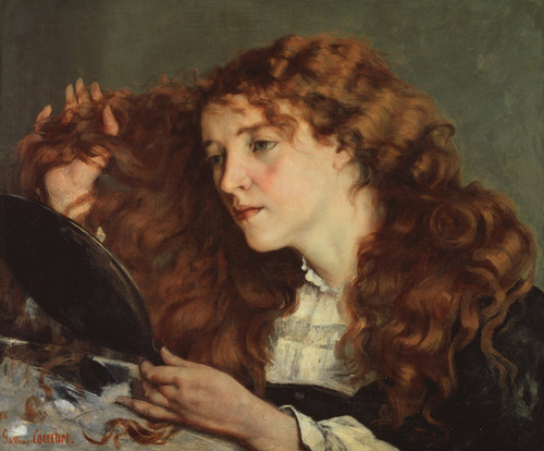 Art Prints of Jo, the Beautiful Irish Girl by Gustave Courbet