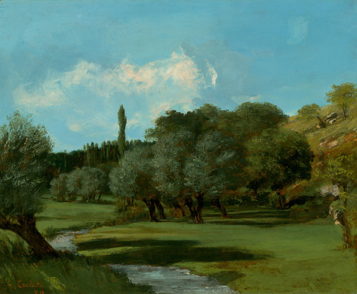 Art Prints of La Bretonnerie in the Department of Indre by Gustave Courbet