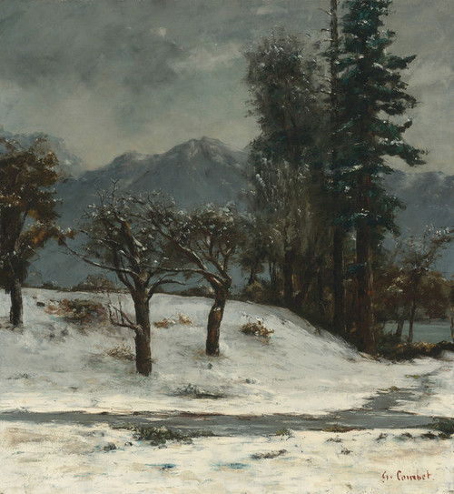Art Prints of Neige (snow) by Gustave Courbet