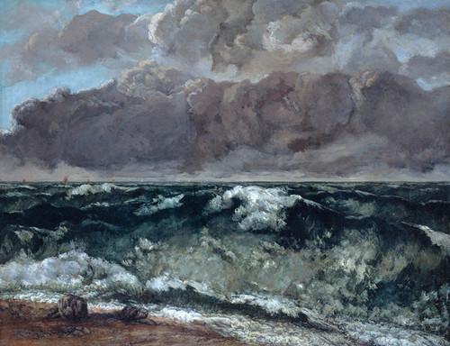 Art Prints of La Vague by Gustave Courbet