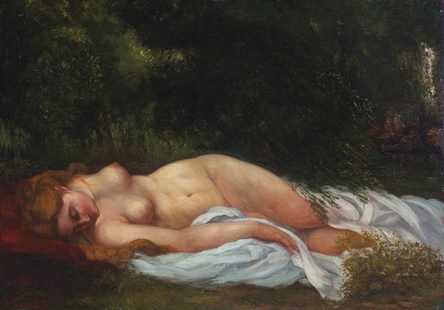Art Prints of Nu Couche (reclining nude) 1866 by Gustave Courbet