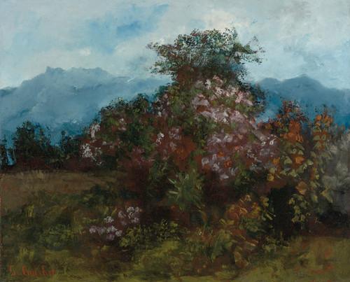 Art Prints of Paysage Avec Massiv Fleuri by Gustave Courbet