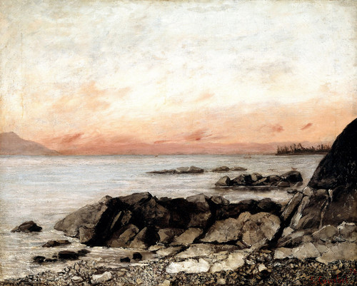 Art Prints of Sunset, Vevey Switzerland by Gustave Courbet