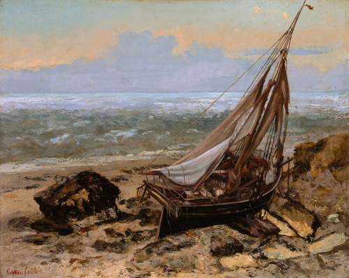 Art Prints of The Fishing Boat by Gustave Courbet