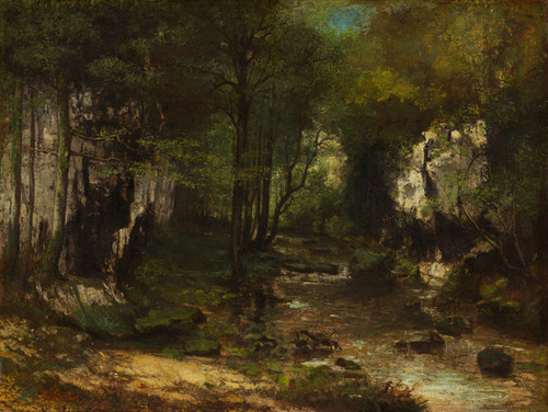 Art Prints of The Stream by Gustave Courbet