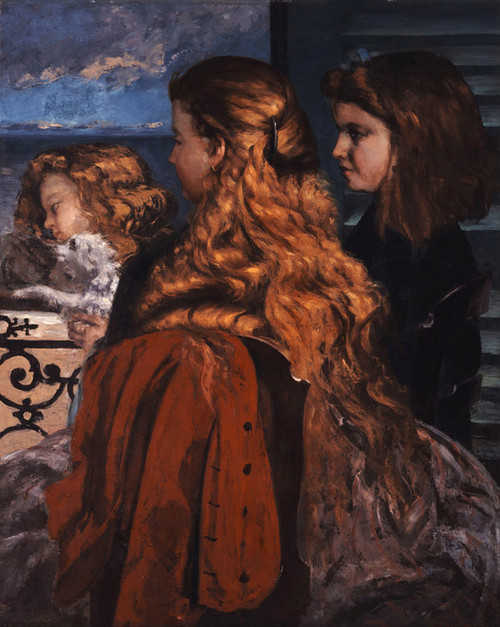 Art Prints of Three Young Englishwomen by a Window by Gustave Courbet