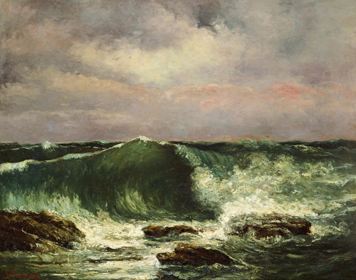 Art Prints of Waves by Gustave Courbet