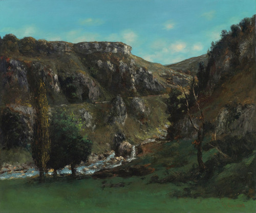 Art Prints of Vallee de la Laloue by Gustave Courbet