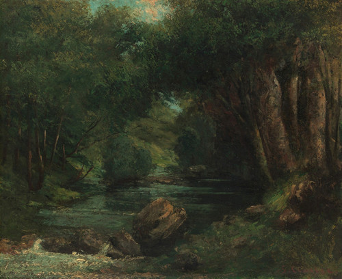 Art Prints of A Brook in the Forest by Gustave Courbet