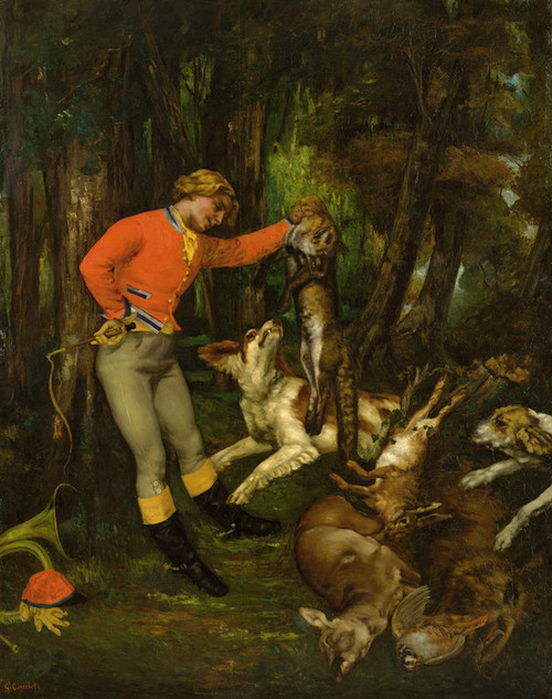 Art Prints of After the Hunt by Gustave Courbet