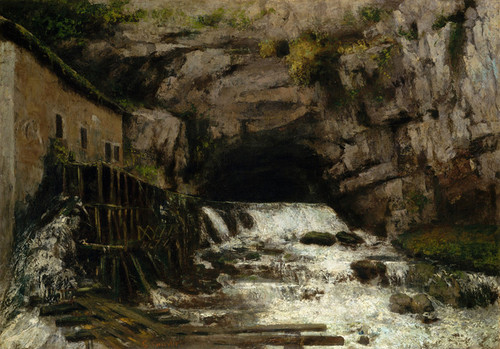 Art Prints of The Source of the Loue by Gustave Courbet