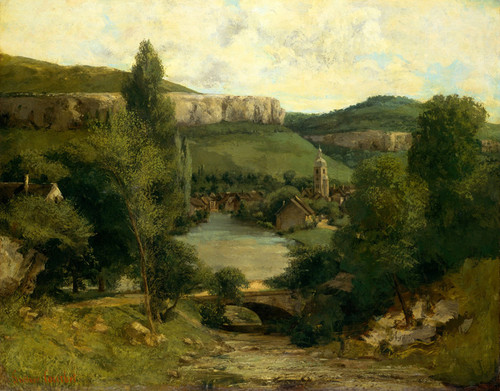 Art Prints of View of Ornans by Gustave Courbet