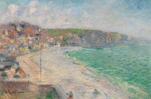 Art Prints of Beach and Cliffs, Fecamp by Gustave Loiseau