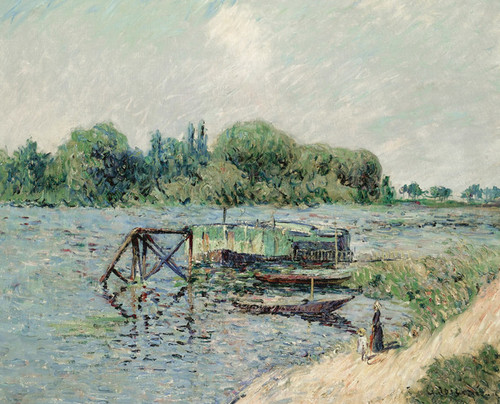 Art Prints of Laundry House on the Seine, Herblay by Gustave Loiseau