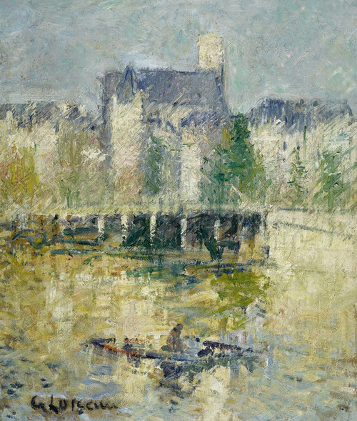 Art Prints of Le Pont de Moret Sur Loing by Gustave Loiseau