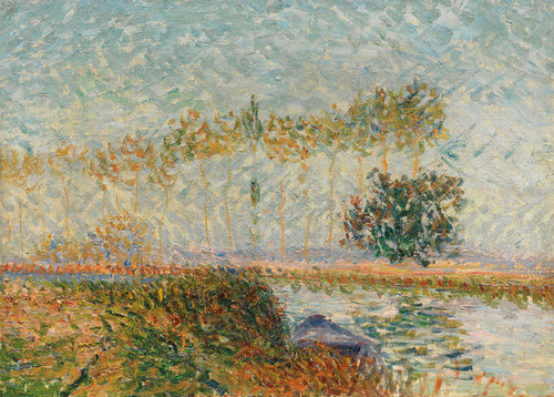 Art Prints of Poplars at the edge of the Eure by Gustave Loiseau