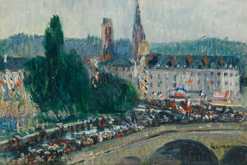 Art Prints of The Docks at Rouen by Gustave Loiseau