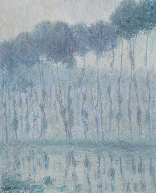 Art Prints of Poplars along the Eure by Gustave Loiseau