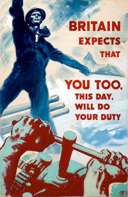 Art Prints of Britain Expects That You Too Will Do Your Duty by Harold Foster